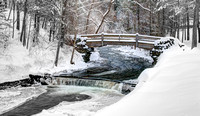 Stony Brook Park Winter Scene