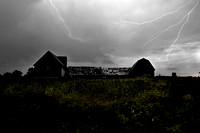 JGP1782 Barns with lightning