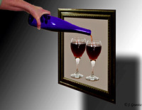 3 d pouring wine #10-12