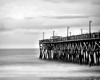 _JGP5351 Pier at surfside beach B&W